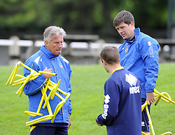 Bristol Rovers Manager, John Ward and Bristol Rovers assistant manager, Darrell Clarke talk  - Photo mandatory by-line: Joe Meredith/JMP - Tel: Mobile: 07966 386802 24/06/2013 - SPORT - FOOTBALL - Bristol -  Bristol Rovers - Pre Season Training - Npower League Two