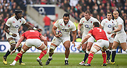 Twickenham. Great Britain.<br /> Billy VUNIPOLA, going for teh gap, between Dan LYDIATE and Sam WARBURTON, during the <br /> RBS Six Nations Rugby, England vs Wales at the RFU Twickenham Stadium. England.<br /> <br /> Saturday  12/03/2016 <br /> <br /> [Mandatory Credit; Peter Spurrier/Intersport-images]