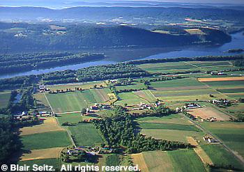 Northeast PA farmland and Delaware River, PA and NJ