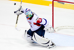 Robert Kristan, goalkeeper of Slovenia during ice-hockey match between Austria and Slovenia of Group G in Relegation Round of IIHF 2011 World Championship Slovakia, on May 7, 2011 in Orange Arena, Bratislava, Slovakia. Austria defeated Slovenia 3-2. (Photo By Vid Ponikvar / Sportida.com)