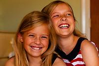 Preteen Mormon sisters, Cedar City, Utah USA