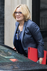 Downing Street, London, May 10th 2016. Energy Secretary Amber Rudd arrives at the weekly cabinet meeting in Downing Street.