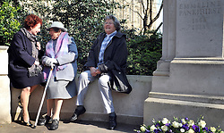 ©London News pictures. 08/03/11. 105-year-old former suffragette Hetty Bower (C) and her 79 year old daughter (R) meet Deputy Labour leader, Harriet Harmen (L) , at the statue of Emmeline Pankhurst to mark International Women's Day. She was  joined by Labour Leader Ed Miliband, Labour Deputy Leader Harriet Harman, and shadow home secretary Yvette Cooper. Emmeline  at the Pankhurst statue at Victoria Tower Gardens, Parliament Square, Westminster, London, Picture Credit should read Stephen Simpson/LNP