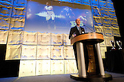 Matt Wixon of the Dallas Morning News welcomes guests to the third-annual SportsDayHS' football Heroes Banquet at the Omni Hotel on Thursday, January 17, 2013 in Dallas, Tx. (Cooper Neill/The Dallas Morning News)