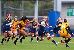 Alex Matthews of Worcester Warriors Women finds some open space in the Wasps defence - Mandatory by-line: Nick Browning/JMP - 24/10/2020 - RUGBY - Sixways Stadium - Worcester, England - Worcester Warriors Women v Wasps FC Ladies - Allianz Premier 15s