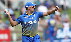 Rory Kleinveldt of BuildNat Cape Cobras with the wicket of Cameron Delport of Hollywoodbets Dolphins during the T20 Challenge cricket match between the Dolphins and the Cobras at the Kingsmead stadium in Durban, KwaZulu Natal, South Africa on the 4th December 2016<br /> <br /> Photo by:   Steve Haag / Real Time Images