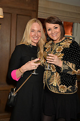 Left to right, ROSIE NIXON and MARTINE McCUTCHEON at a party to celebrate the publication of The Stylist by Rosie Nixon held at Soho House, London on 10th February 2016.