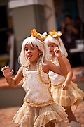 Young girls dressed as Lady Gaga during the Festival of San Sebastian in San Juan, Puerto Rico.