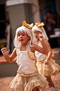 Young girls dressed as Lady Gaga during the Festival of San Sebastian in San Juan, Puerto Rico.