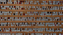 June 15, 2017 - Shenyang, China - Thousands of new cars at a parking lot in Shenyang, northeast China's Liaoning Province. The volume of automobile production reached 2 million in May in China. (Credit Image: © SIPA Asia via ZUMA Wire)