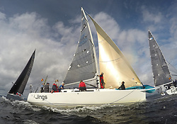 Largs Regatta Week 2017 <br /> <br /> Day 2<br /> <br /> GBR8543R, Jings, Robin Young, CCC, J109<br /> <br /> Picture Marc Turner