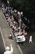 Lourdes is a world pilgrimage center for Catholic faith healing. It has 5 million visitors per year. Lourdes, France.