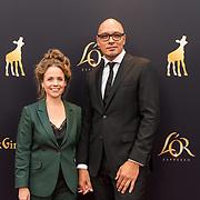 NLD/Utrecht/20181005 - L'OR Gouden Kalveren Gala 2018, Franky Ribbens en Dana Nechushtan
