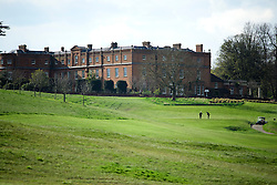 © Licensed to London News Pictures. 23/04/2016. Chandler's Cross in Chandler's Cross, Hertfordshire UK. General view of The Grove golf Course where President of The United States of America, BARAK OBAMA, played golf with British prime minister DAVID CAMERON . Photo credit: Ben Cawthra/LNP