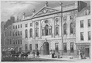 Ironmonger's Hall, Fenchurch Street, engraving 'Metropolitan Improvements, or London in the Nineteenth Century' London, England, UK 1828 , drawn by Thomas H Shepherd