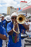 Brass band, Every second 2nd Thursday in February thousands of people attend the Lavagem do Bonfim - The washing of Bonfim at the Iglesia do Bonfim - Church of Bonfim in Salvador de Bahia,