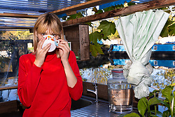 Mail Online: Kim Marren, 31, enjoys a cup of tea on the back deck of her barge Sunshine which started out as an empty shell and is now a small but comfortable home currently moored on the Lea Navigation in East London. North Hackney, London, November 02 2018.