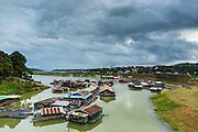 15 SEPTEMBER 2014 - SANGKHLA BURI, KANCHANABURI, THAILAND:  The Song Kalia River in Sangkhla Buri, Kanchanburi, Thailand.    PHOTO BY JACK KURTZ