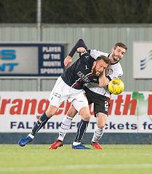 Falkirk's Lee Miller and St Mirren's Jason Naismith. Falkirk 3 v 1 St Mirren, Scottish Championship game played 3/12/2016 at The Falkirk Stadium .