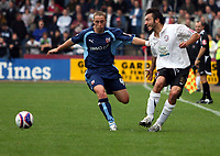 Photo: Mark Stephenson.<br /> Hereford United v Brentford. Coca Cola League 2. 06/10/2007.Hereford's Clint Easton (L)   and  brentford's Sammy Moore