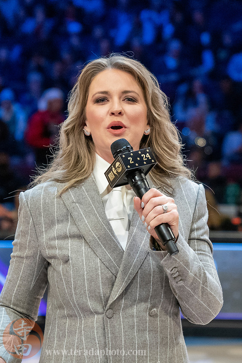 February 15, 2020; Chicago, Illinois, USA; TNT sideline reporter Kristen Ledlow during NBA All Star Saturday Night at United Center.