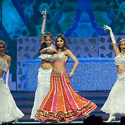 SHEFFIELD, UNITED KINGDOM - 9th June 2007: Bollywood actress Shilpa Shetty performing at International Indian Film Academy Awards (IIFAs) at the Sheffield Hallam Arena on June 9, 2007 in Sheffield, England.