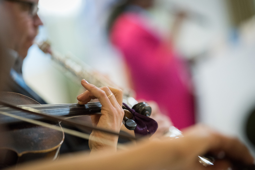 25 October 2019, Addis Ababa, Ethiopia: Sophie Küspert-Rakotondrainy plays the violin. Gathered in Addis Ababa from 23-27 October 2019, Lutherans from across the globe join in consultation under the theme of 'We believe in the Holy Spirit: Global Perspectives on Lutheran Identities'. Hosted by the Ethiopian Evangelical Church Mekane Yesus, the consultation is the first phase of a study process on Lutheran identities.