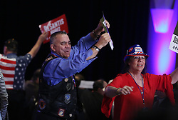 Supporters celebrate during a Ron DeSantis election night party at the Rosen Centre in Orlando, Fla. on Tuesday, November 6, 2018. Photo by Stephen M. Dowell/Orlando Sentinel/TNS/ABACAPRESS.COM