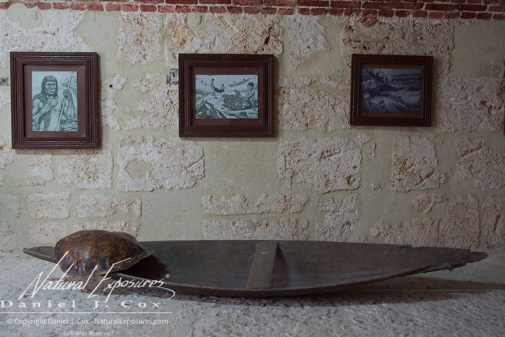 Artifacts within the Morro Castle museum, Havana, Cuba.