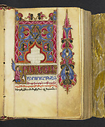 16th century Armenian Liturgical psalter and perpetual calendar The manuscript includes ten full-page illuminations of Biblical figures and illuminated headpieces at the beginning of the eight canons of the the Psalter.