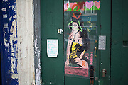 Protected street art of Amy Winehouse in Camden Town, London, UK. Singer Amy Winehouse lived in Camden and was a regular visitor. She was found dead in her Camden Square home in July 2011.