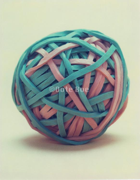 still life of rubber string ball