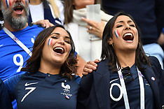 WAGs At France v Uruguay 7 july 2018