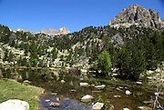 Aigüestortes i Estany de Sant Maurici National Park, Catalonia, Spain The Garonne River