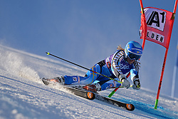 26.10.2013, Rettembach Ferner, Soelden, AUT, FIS Ski Alpin, FIS Weltcup, Ski Alpin, 1. Durchgang, im Bild Frida Hansdotter from Sweden races down the course // Frida Hansdotter from Sweden races down the course during 1st run of ladies Giant Slalom of the FIS Ski Alpine Worldcup opening at the Rettenbachferner in Soelden, Austria on 2012/10/26 Rettembach Ferner in Soelden, Austria on 2013/10/26. EXPA Pictures © 2013, PhotoCredit: EXPA/ Mitchell Gunn<br /> <br /> *****ATTENTION - OUT of GBR*****