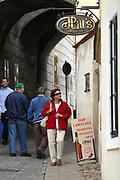 Jindrichuv Hradec/Tschechische Republik, Tschechien, CZE, 31.08.2007: Das Unternehmen Hill¥s Liquere S.R.O. wurde 1920 von Albin Hill  gegr¸ndet. Die Tradition wurde 1947 von Radomil Hill weitergef¸hrt - heute wird das Unternehmen von seiner Tochter Ilona Musialova geleitet. Hill¥s Spirituosen Gesch‰ft in der Innenstadt von Jindrichuv Hradec. <br /> <br /> Jindrichuv Hradec/Czech Republic, CZE, 31.08.2007: Albin Hill established Hill's Liguere in 1920. He started out as a wine wholesaler and soon after he began producing his own liquor and liqueurs. In 1947 his son Radomil Hill continues this tradition and today his daughter Ilona Musialova is leading the company. Hill's liquere shop in the city centre of Jindrichuv Hradec.