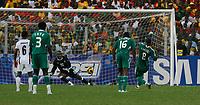 Photo: Steve Bond/Richard Lane Photography.<br />Ghana v Nigeria. Africa Cup of Nations. 03/02/2008. Yakubu Ayegbeni (R) slots home the penalty for Nigeria