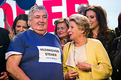 11.10.2015, FPÖ Festzelt, Wien, AUT, Wien-Wahl 2015, im Bild v.l.n.r. Bezirksvorsteher von Simmering Paul Stadler und Ursula Stenzel // during elcetion to the vienna city council at FPOe tent in Vienna, Austria on 2015/10/11, EXPA Pictures © 2015, PhotoCredit: EXPA/ Michael Gruber