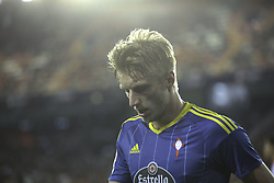 April 6, 2017 - Valencia, Comunidad Valenciana, Spain - Valencia CF vs Real Celta de Vigo - La Liga Matchday 30 - Estadio Mestalla, in action during the game -- Daniel Wass midfielder for Celta de Vigo reacts after missing an opportunity to score (Credit Image: © Vwpics/VW Pics via ZUMA Wire/ZUMAPRESS.com)