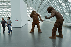 Sculpture Big Spirits by Thomas Schutte at K21 Art Museum in Dusseldorf in Germany