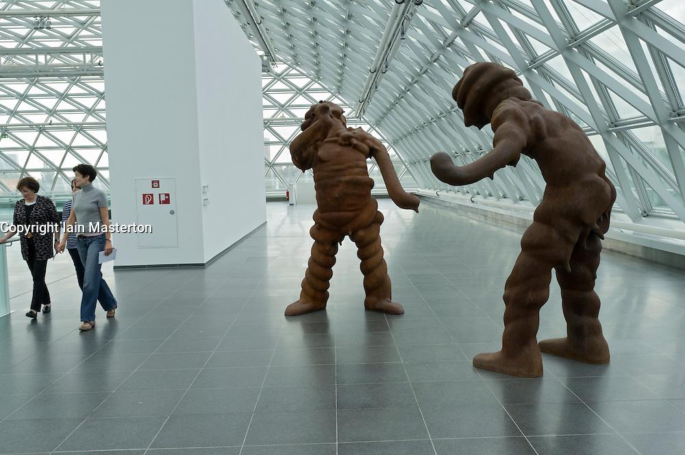 Sculpture Big Spirits by Thomas Schutte at K21 Art Museum in Dusseldorf in Germany