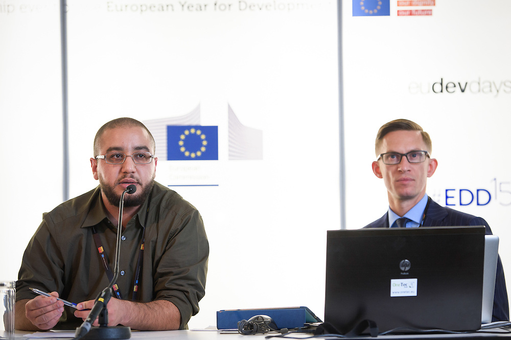 03 June 2015 - Belgium - Brussels - European Development Days - EDD - Gender - Gender equality - Exploring innovative ways to engage boys and young men in shifting social norms - Peter Pawlak , International Consultant - Jay Feghali<br /> Programme Officer, Abaad © European Union