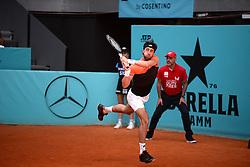 May 6, 2019 - Madrid, Spain - Nikoloz Basilashvili ( GEO)  in his match against Frances  Tiafoe (USA) during day three of the Mutua Madrid Open at La Caja Magica in Madrid on 6th May, 2019. (Credit Image: © Juan Carlos Lucas/NurPhoto via ZUMA Press)