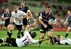 Ged Robinson (Rebels).Melbourne Rebels v The Sharks.Rugby Union - 2011 Super Rugby.AAMI Park, Melbourne VIC Australia.Friday, 11 March 2011.© Sport the library / Jeff Crow
