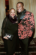 New York, New York- June 6: (L-R) Author/Arts Educator Dr. Deb Willis, Chair, Photography Dept, NYU and Visual Artist Kehinde Wiley attend the 2017 Gordon Parks Foundation Awards Dinner celebrating the Arts & Humanitarianism held at Cipriani 42nd Street on June 6, 2017 in New York City.   (Photo by Terrence Jennings/terrencejennings.com)