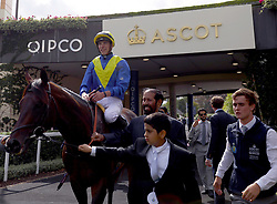 Poet's Word ridden by jockey James Doyle after winning the King George VI And Queen Elizabeth Stakes during King George Day at Ascot Racecourse.