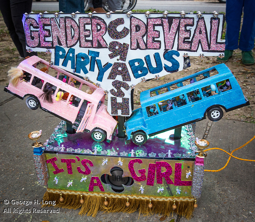 """""""Gender Reveal Party Bus Crash""""; 'tit Rəx Parade; ©2020 George H. Long, All Rights Reserved"""