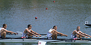 Zagreb, CROATIA.  GBR M4+. Bow, SMITH  Graham  2. WILLIAMS Stephen, 3. GARBETT Toby, DUNN .Richard, cox POTTS Alistair. 2000 FISA World Rowing Junior & Non-Olympic Seniors Championships   [Mandatory Credit Peter Spurrier/Intersport Images]
