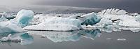 10.06.2008.Jökulsárlón glacial lagoon.Vatnajökull ice cap.Iceland