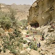 The area around the cave shrine.